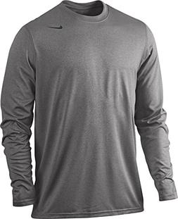 NIKE Grey Heather Dri-FIT Legend Long Sleeve Top