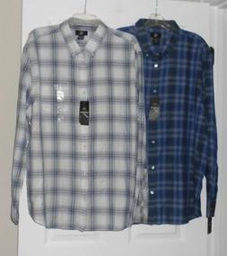 Calvin Klein Lifestyle Long Sleeve Button Down Shirt 2 color