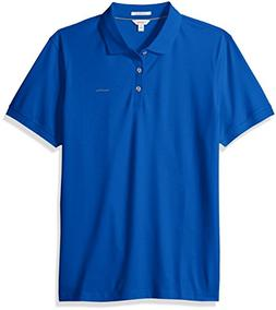 Calvin Klein Men's Liquid Touch Polo,nautical blue,Medium