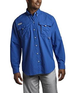 Columbia Mens Long Sleeve Bahama II Shirt-Large,VIVID BLUE