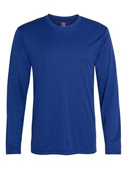 Hanes Men's Long Sleeve Cool Dri T-Shirt UPF 50+, Large, 2 P