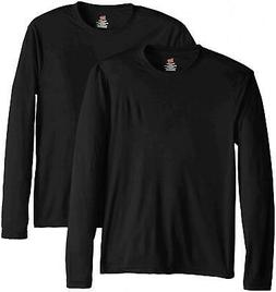 Hanes Men's Long Sleeve Cool Dri T-Shirt UPF 50+, XX-Large,