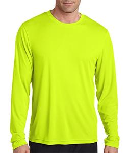 Hanes 482L Adult Cool DRI Long Sleeve Performance Tee, Safet