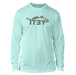 Yeti Redfish Long Sleeve Microfiber UPF Fishing Shirt - Seaf