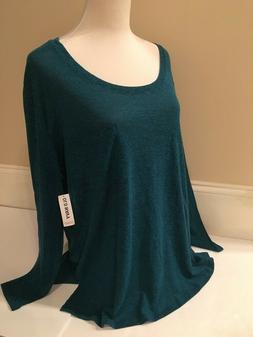 Old Navy Long Sleeve Scoop Neck Tee For Women in Size S, M,