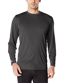 Russell Athletic Men's Long Sleeve Performance Tee, Stealth,