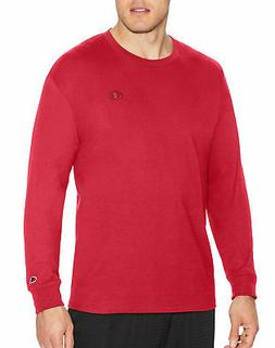 Champion Long-Sleeve Tee Shirt Classic Cotton Jersey Athleti