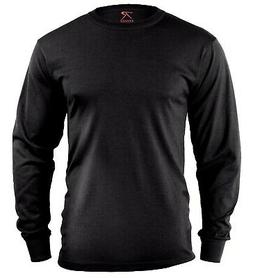 LS T-shirt Black Long Sleeve Cotton Polyester Blend Rothco 6