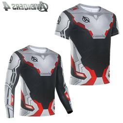 Marvel Avengers 4 Endgame Long Short Sleeve T-Shirt 3D Print