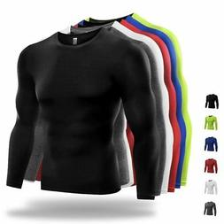 Men Compression Quick Dry Tops Long Sleeve Gym Fitness Tight