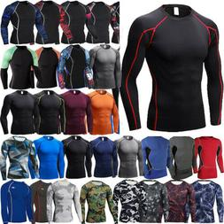 Men Compression T Shirt Under Thermal  Base Layer Sports Lon