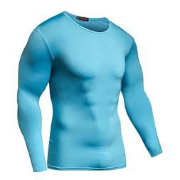 Men Compression T Shirts Elastic Keep Fit Fitness <font><b>L