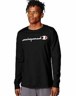 Champion Long-Sleeve Tee T-Shirt Men's Athletics Classic Scr