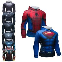 Men's Boys Marvel Superhero Hoodie Hooded Digital Print with