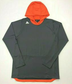 Men's Adidas Climate Polyester Hooded Long Sleeve Shirt