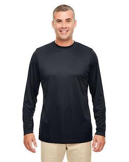 UltraClub Men's Cool & Dry Performance Long-Sleeve T-Shirt 8