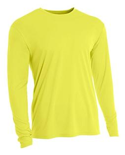 A4 Men's Cooling Performance Crew Long Sleeve T-Shirt, Safet