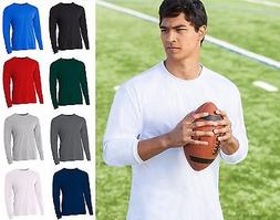 *A4 Men's Cooling Performance Long Sleeve Crew Neck Tee Shir