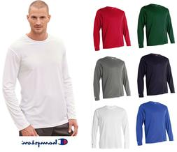 Champion Men's Double Dry 4.1 oz. Long-Sleeve Interlock T-Sh