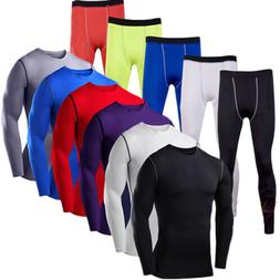 Mens Compression Solid Base Layer T Shirt Athletic Thermal S