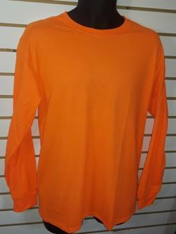 Fruit of the Loom Men's HD Cotton Long-Sleeve T-Shirt Safety