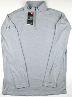 Under Armour Men's Large Gray 1/4 Zip Golf Pullover Long Sle