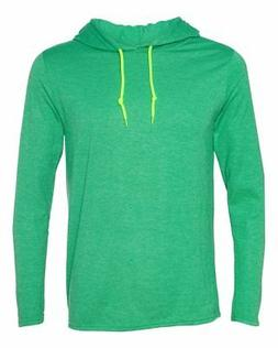 Anvil Men's Lightweight Long-Sleeve Hooded T-Shirt 987AN S-3