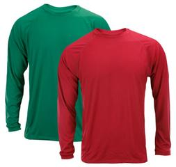 Adidas Men's Long Sleeve Climalite Shirt - Red or Green