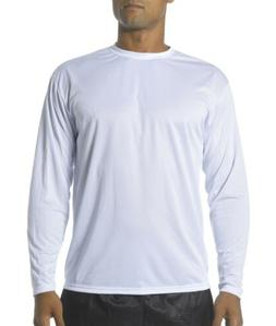 A4 Men's Long Sleeve Cooling Performance Polyester Crew Neck