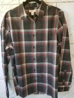 Calvin Klein Men's Long Sleeve Shirt NEW w/Tags Large Red/Bl