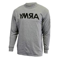 Soffe Men's Long Sleeve T-Shirt- Gray - With Reflective Army