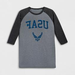 Men's Long Sleeve United States Air Force Crew T-Shirt, Char