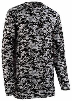 Augusta Sportswear Men's New Polyester Digital Camo Long Sle