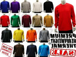 MEN'S PLAIN THERMAL LONG SLEEVE WAFFLE SHIRTS HEAVY WEIGHT C