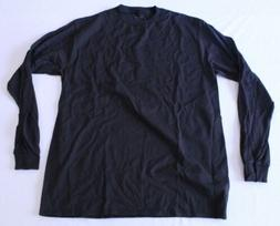 men s preshrunk cotton crewneck long sleeve