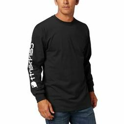 Carhartt Men's Signature Sleeve Logo Long Sleeve T-Shirt Ori