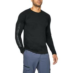 UNDER ARMOUR Men's Unstoppable Logo Long Sleeve T-Shirt Blac