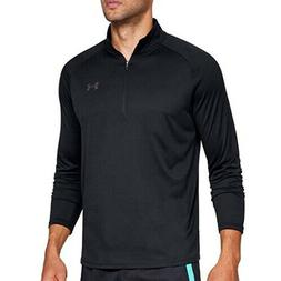 Under Armour Mens Black Activewear Long Sleeve 1/2 Zip-Up -