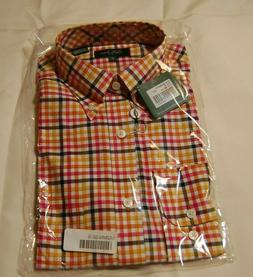 BOBBY JONES MENS CLASSIC MULTI GINGHAM LONG SLEEVE SHIRT MUL
