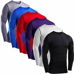 Mens Compression Base Layer Top T-shirt Thermal Long Sleeve