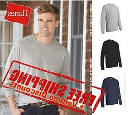 mens cotton blank comfortsoft long sleeve t