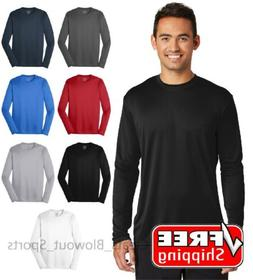 Mens Dri-Fit Long Sleeve Tee Workout Performance Moisture Wi