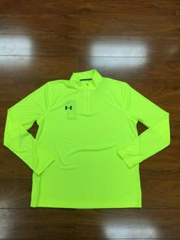 Under Armour Mens Heatgear Long Sleeve Top Neon Yellow