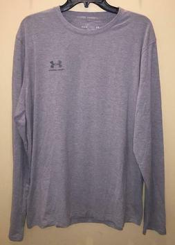 Under Armour Mens Large Loose Long Sleeve Shirt Grey Gray 12
