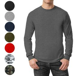 mens long sleeve tees crew neck cotton