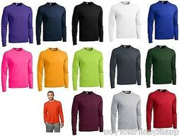 Mens Moisture Wicking Big & Tall Long Sleeve dri fit Running