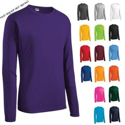 Mens Moisture Wicking Dri Fit Long Sleeve Performance T-shir