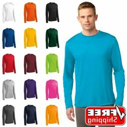 Mens Sport-Tek Long Sleeve Dri Fit Performance Moisture Wick