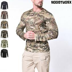 ESDY Mens Tactical Combat T-Shirt Airsoft Long Sleeve Army M