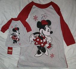 MINNIE MOUSE NIGHTGOWN & DOLL GOWN-JAMMIES FOR YOUR FAMILIES